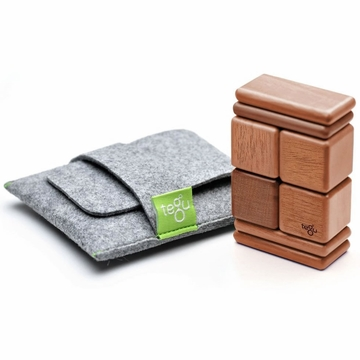 Tegu Mahogany Pocket Pouch, 8 Piece