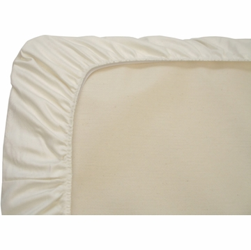 Naturepedic Fitted Organic Cotton Crib Sheet - Ivory
