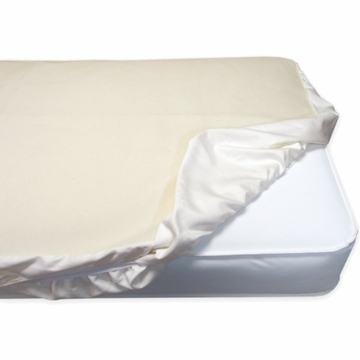 Naturepedic Non-Waterproof Fitted Organic Cotton Flannel Pad Crib - Natural