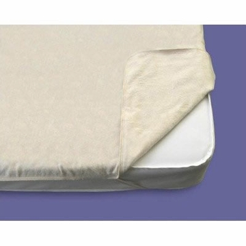 Naturepedic Non-Waterproof Flat Organic Cotton Flannel Pad Crib - Natural