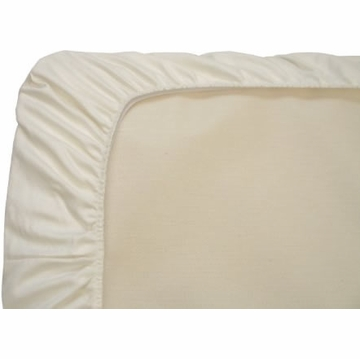Naturepedic Organic Cotton Fitted Portable Crib Sheet - Ivory