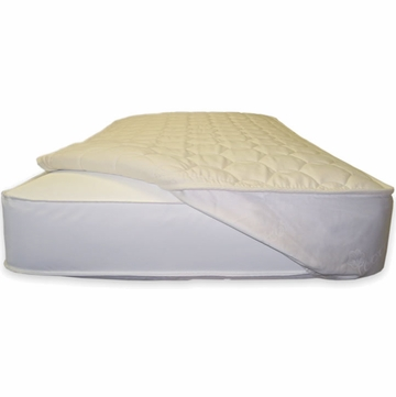 Naturepedic Organic Cotton Non-Waterproof Quilted Queen Mattress Topper with Straps