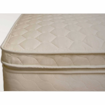 "Naturepedic Organic Cotton Quilted Twin Mattress 3"" Comfort Topper"