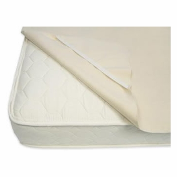 Naturepedic Organic Cotton Waterproof Queen Size Protector Pad with Straps