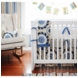 New Arrivals Dakota Blue 4 Piece Baby Crib Bedding Set