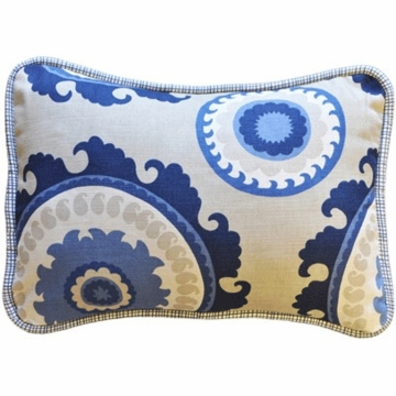 New Arrivals Dakota Blue Throw Pillow - 12 x 16