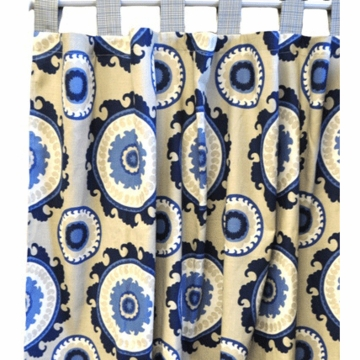 New Arrivals Dakota Blue Window Panels
