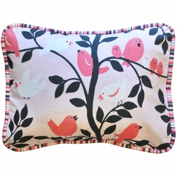 New Arrivals Feather Your Nest in Pink Throw Pillow - 16 x 16