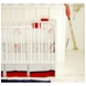 New Arrivals Out to Sea in Blue 4 Piece Baby Crib Bedding Set with Red Stripe Bumper