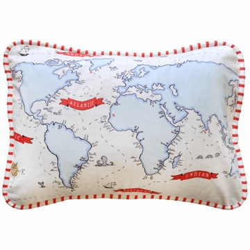 New Arrivals Out to Sea in Blue Throw Pillow - 16 x 16