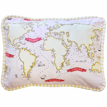New Arrivals Out to Sea in Pink Throw Pillow - 16 x 16