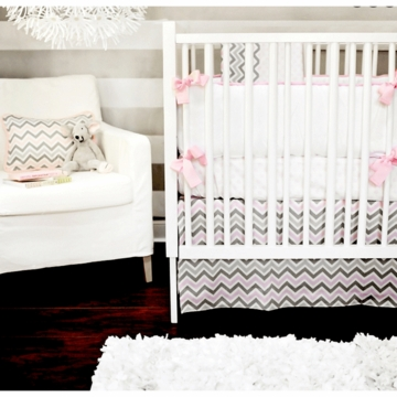 New Arrivals Peace, Love & Pink 4 Piece Baby Crib Bedding Set