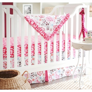 New Arrivals Penelope in Pink 4 Piece Baby Crib Bedding Set