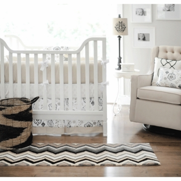 New Arrivals Penelope in Wheat 4 Piece Baby Crib Bedding Set