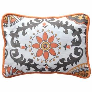New Arrivals Ragamuffin Tangerine Throw Pillow - 16 x 16