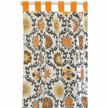 New Arrivals Ragamuffin Tangerine Window Panels