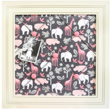 New Arrivals Urban Zoo in Pink Memo Board