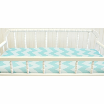 New Arrivals Zig Zag Aqua Changing Pad Cover