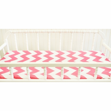 New Arrivals Zig Zag Hot Pink Changing Pad Cover