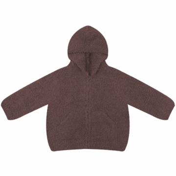 Angel Dear Classic Hooded Jacket in Chocolate - 12 Months