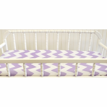 New Arrivals Zig Zag Lavender Changing Pad Cover