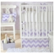 New Arrivals Zig Zag Lavender 4 Piece Baby Crib Bedding Set