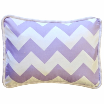 New Arrivals Zig Zag Lavender Throw Pillow - 16 x 16