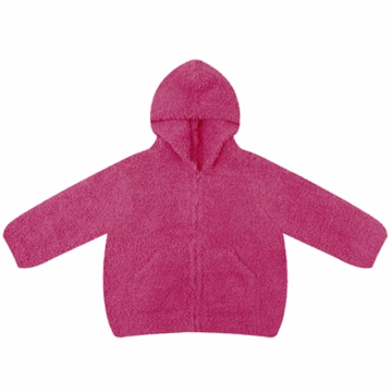 Angel Dear Classic Hooded Jacket in Fuchsia  - 12 Months