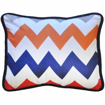 New Arrivals Zig Zag Rugby Throw Pillow - 16 x 16