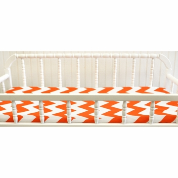 New Arrivals Zig Zag Tangerine Changing Pad Cover