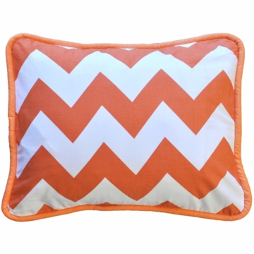 New Arrivals Zig Zag Tangerine Throw Pillow - 16 x 16