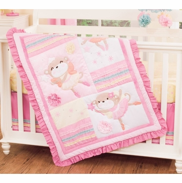 Carter's 4 Piece Crib Bedding Set - Fairy Monkey