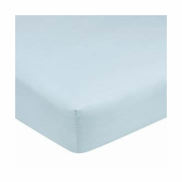 Carters Easy Fit Sateen Fitted Crib Sheet - Blue