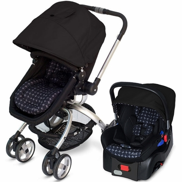 JJ Cole Broadway Stroller & Newport Infant Car Seat in Drops