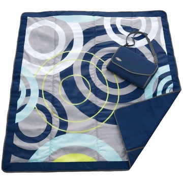 JJ Cole Essentials Blanket in Blue Orbit - D