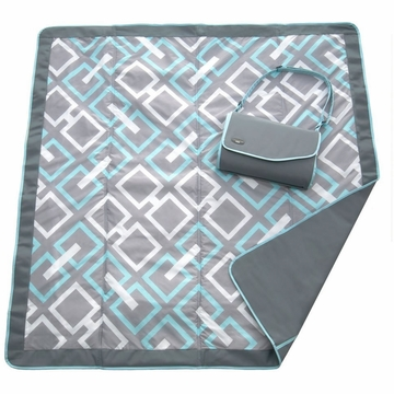 JJ Cole Essentials Blanket in Grey Links -D