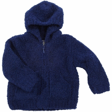 Angel Dear Classic Hooded Jacket in Navy  - 12 Months