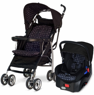 JJ Cole Monroe Stroller & Newport Infant Car Seat in Drops