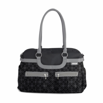 JJ Cole Satchel Canvas - Charcoal Trellis