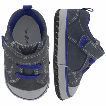 Pediped Jett Grey/Blue Fashion Sneakers - Xtra Small (0 to 6 Months)