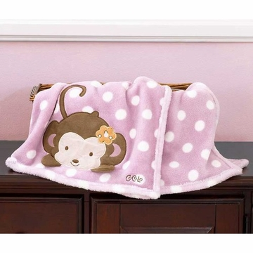CoCaLo Jacana Boa Blanket with Applique