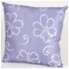 Sweet Potato LuLu White Flower on Lavender Ground Pillow