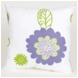 Sweet Potato LuLu Flowers on White Ground Pillow