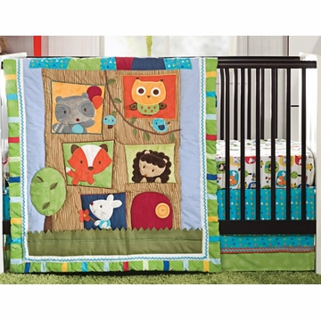 Kids Line 4 Piece Crib Bedding Set - Little Tree House