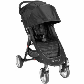 Baby Jogger City Mini 4-Wheel Single Stroller - Black/Gray
