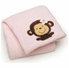 Carter's Embroidered Boa Blanket - Pink Monkey