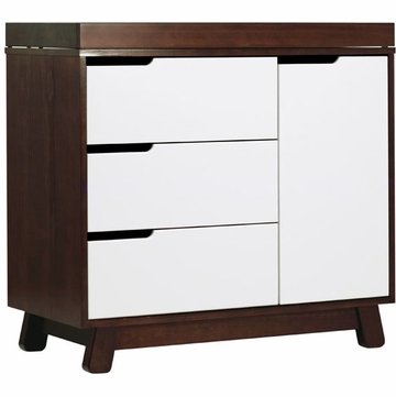 BabyLetto Hudson Changer Dresser in Two-tone Espresso/White