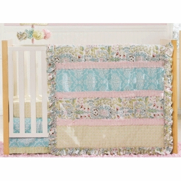 Kidsline Dena Sophia 4 Piece Crib Bedding Set