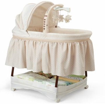 Simmons Elite Gliding Bassinet - Sand