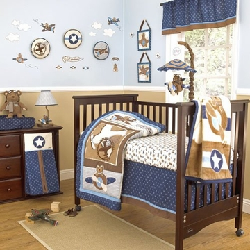 CoCaLo Lil' Aviator Eight Piece Crib Set